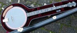 Nechville-Moonshine-Black-Open-Back-Banjo-5-saitig-Made-in-USA-mit-Koffer