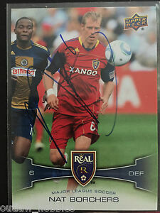 Real-Salt-Lake-Nat-Borchers-Autographed-2012-Upper-Deck-UD-MLS-Card