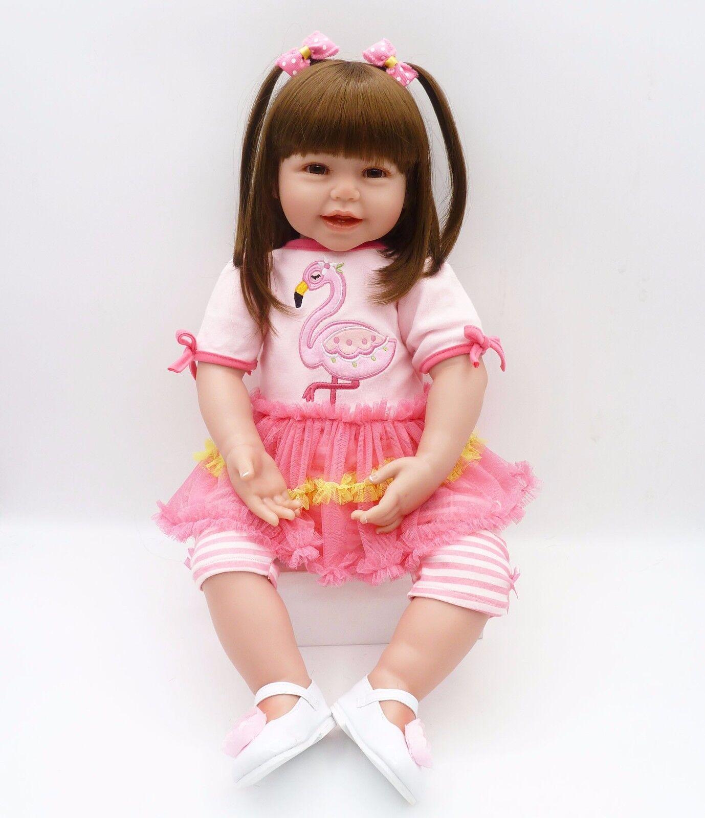 Realistica vinile 24  64CM Reborn Toddler bambola bambina baby realistico fatto a mano unico