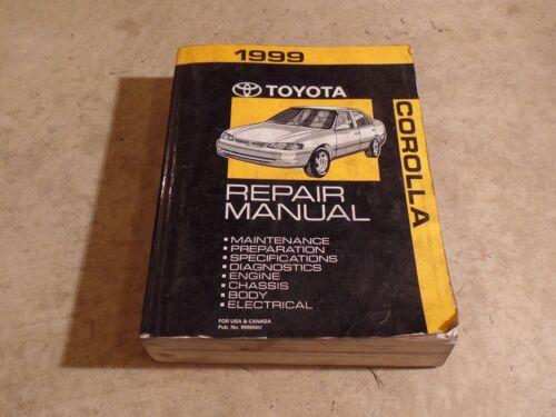 1999 Toyota Corolla Repair Service Manuals Manual OEM