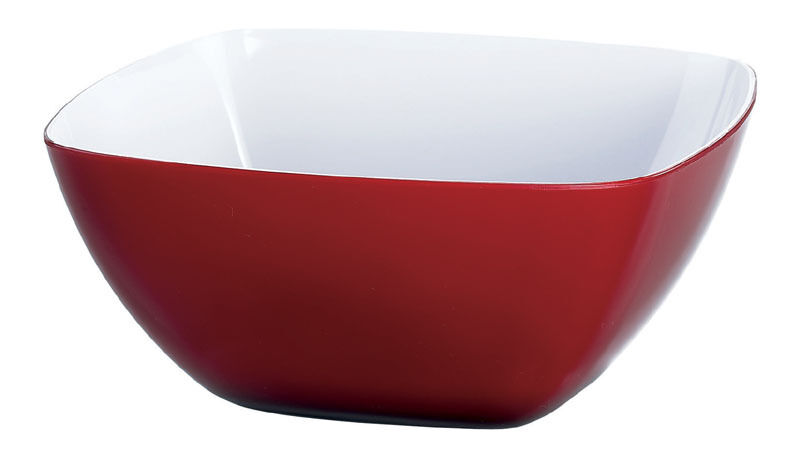 Emsa Vienna Bowl salat Bowl 67.6oz Transparent Red White, 20 Ø cm