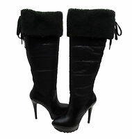 Guess By Marciano Womens Ragi Side Zip Over The Knee Shearling Platforms Boots