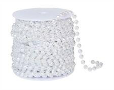 8 MM White Pearl Bead Spool  Wedding Decorations Garland   22 yards