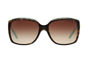 ce23272992 NWT TIFFANY   CO. Sunglasses TF 4076 81343B Top Havana Blue  Brown ...