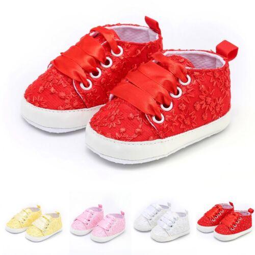 Bébé Filles Dentelle Broderie Florale Solide Mignon Doux best seller Chaussures
