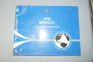 1996 Ford Brinco EVTM Wiring Diagrams Repair Book