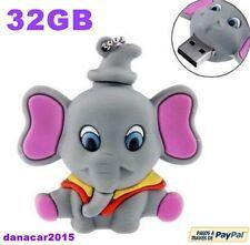 PEN DRIVE PENDRIVE DE UN ELEFANTE 32GB 32 GB MEMORIA USB (DUMBO 4 8 16 64)
