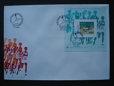 "Briefmarken Official Fdc/first Day Cover Herrlich Portugal 1984:block 45 ""olympiade Los Angeles"" A"