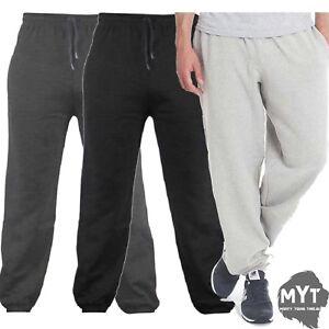 GYM Mens Plain Fleece Sports Jogging Zip Pocket Cuff Bottoms Sweat Pant Trousers