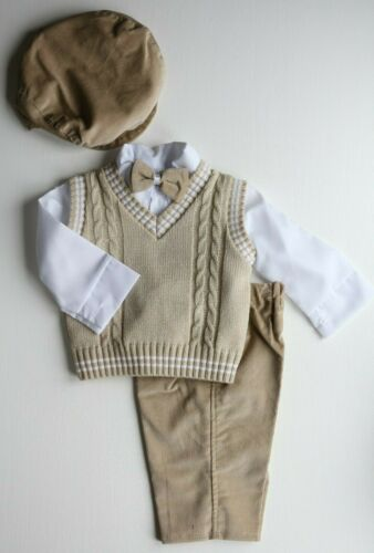 Baby Boy Toddler 5 Piece Smart Outfit Suit Christening Wedding Special Occasion