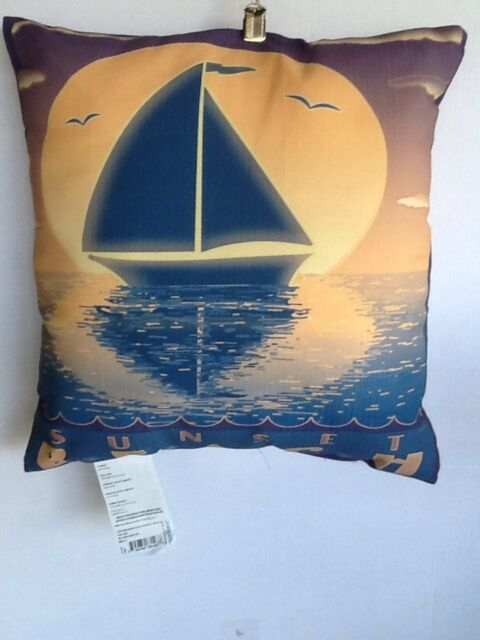 "NAUTICAL 18/"" SQUARE /""MYTHICAL MERMAID/"" INDOOR OUTDOOR PILLOW PILLOWS"