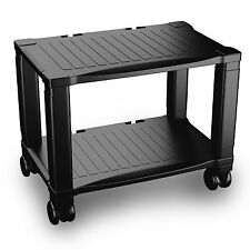 Printer Stand with Wheels - 2 Tiers Shelf - Small Under the Desk Machine Stan...