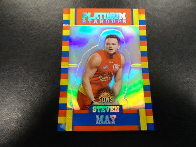 Independent 2017 Afl Select Footy Stars Platinum Ps47 Steven May Gold Coast Suns 042/375 Sports Trading Cards