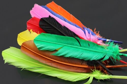 9 pcs 9 Colors Turkey Biots Quills Feathers Fly Wing Body Fly Tying Materials