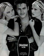 Publicité Advertising 1996  Parfum  DRAKKAR NOIR eau de toilette GUY LAROCHE
