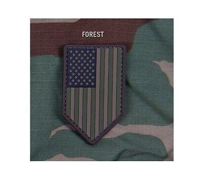 Milspec Monkey MSM PVC Patch US American Flag Vertical Shield NEW DESERT Tan