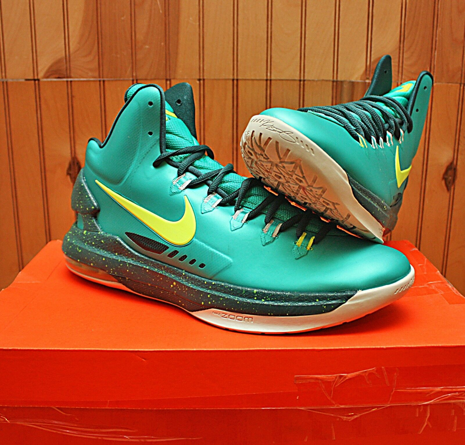 2012 Nike KD V 5 Size 11 - Incredible Hulk Green Volt  Atomic - 554988 300