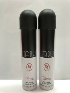 Lot-of-2-Tabu-by-Dana-2-5-oz-75-g-All-Over-Body-Spray-Women-Old-Formula-Rare