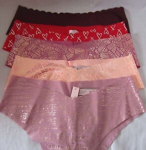 Victoria-039-s-Secret-MEDIUM-Panties-Underwear-NO-SHOW-CHEEKY-U-Pick-Color-RAW-CUT
