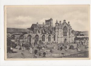 Melrose-Abbey-From-SW-1953-Postcard-384a