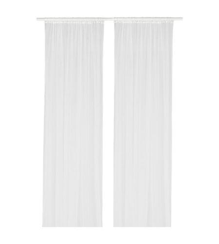 2x IKEA LILL Gardinenschal Paar 4x Gardine weiß Vorhang Vorhänge Schlaufenschal