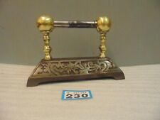 Antique Cast Iron And Brass  Poker Rest / Door Stop 230