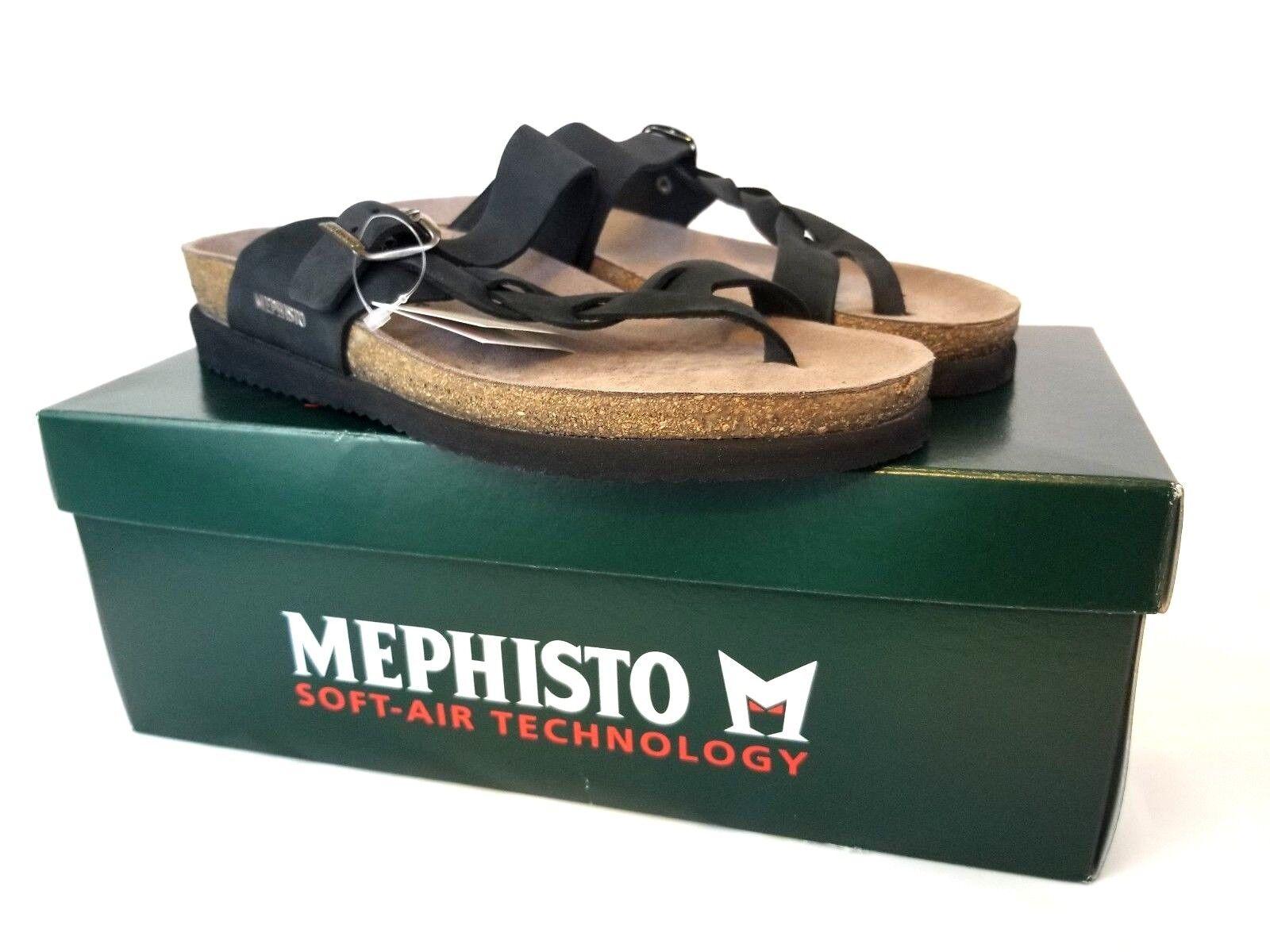 MEPHISTO Donna  Helen Helen Helen Twist Sandals nero Sandalbuck 6000 US 11 EU 41 NEW Z446 60009f
