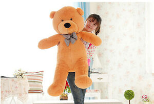 24-034-Giant-Huge-Brown-Teddy-Bear-Plush-Soft-Doll-Big-Stuffed-Animal-Toy-Kid-Gift