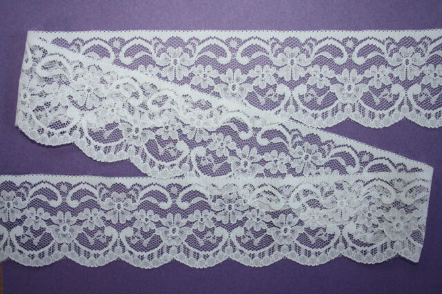 "42 metres CRAFT PACK - Quality Ivory Lace Trim 2.25""/5.5cm Wedding Invitations"