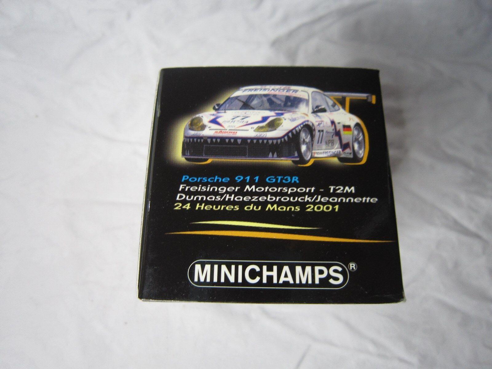 DV7174 MINICHAMPS PORSCHE 911 GT3 RS DUMAS LE MANS MANS MANS 2001 Ref 400016977 1 43 ad761b