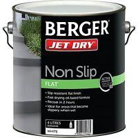 Berger Jet Dry Non Slip Flat Paint 4l, White, Fast Drying Oil Based Formula