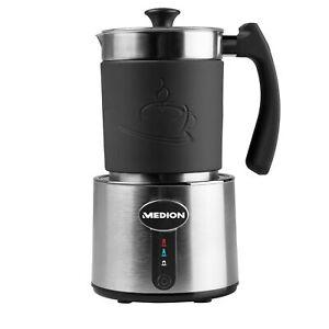 MEDION-MD-18286-Milchaufschaeumer-Cappuccino-Latte-Macchiato-230ml-550W-edelstahl