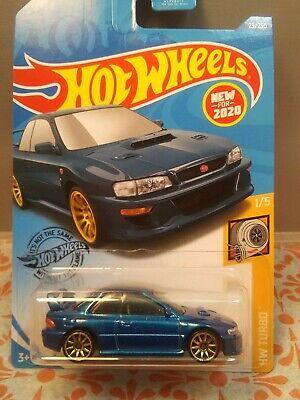 2020 Hot Wheels #23 HW Turbo /'98 Subaru Impreza 22B STi-Version Blue Gold Wheels