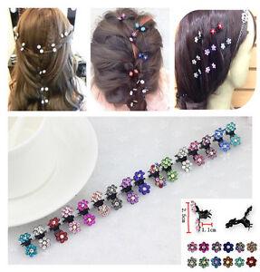 6PCS-New-Crystal-Flower-Mini-Hair-Claw-Clamp-Hair-Clip-Hair-Pin-Hair-Accessories