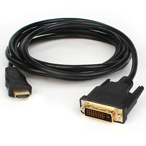 HDMI-Male-to-DVI-D-Male-Converter-PC-TV-HD-HDTV-Display-Adapter-Cable-6-10-15ft