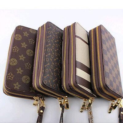 FashionWomen's Clutch buckle Soft Leather Wallet Lady PU Long Card Purse Handbag