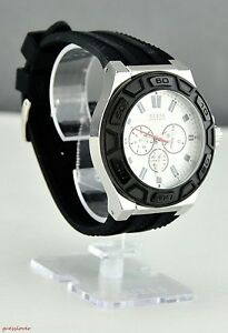 3e8d213b94cd Image is loading New-guess-watch-women-rubber-multifunction-nero-neuf-