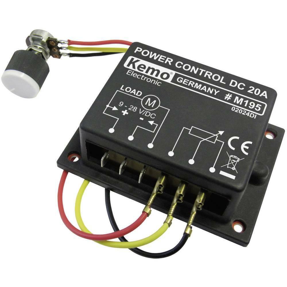 PWM Leistungsregler Baustein Kemo M195 9 V DC, 12 V DC, 24 V DC, 28 V DC