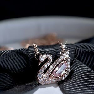 18k-rose-gold-gf-made-with-SWAROVSKI-crystal-swan-pink-pendant-necklace-small