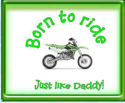 Honda Born to ride just like Daddy Dirtbike Motocross Fathers Day Gift