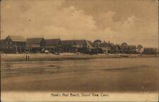Sound Beach CT Hawk's Nest Beach Homes c1910 Postcard #4