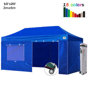 Ez Up Canopy 10x20 >> Details About Heavy Duty 10x20 Ez Pop Up Canopy Gazebo Outdoor Marquee Party Tent W 4 Walls