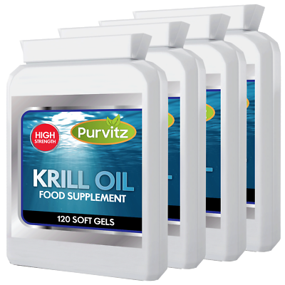 Superba Rosso Krill Oil 500mg Forza Supplementare 480 Capsule Sofgels Made In Uk-mostra Il Titolo Originale