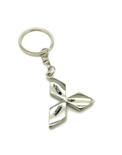Logo Emblem 3D Key Ring Fob Xmas Gift Keychain Metal Chrome For Mitsubishi Colt