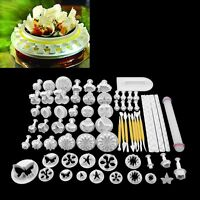 68pcs Cake Decorating Fondant Icing Plunger Cutters Mold Tools Sugarcraft Set Us