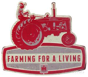 Farmall Farming For a Living Tin Sign - 14x12.5