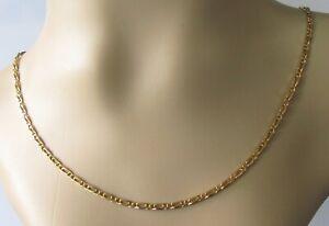 9ct Cadena De Oro-Vintage 9ct Oro amarillo Cadena de enlace Mariner (17 Pulgadas)