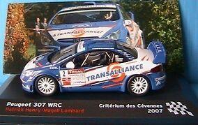 PEUGEOT 307 WRC CRITERIUM CEVENNES 2007 HENRY IXO IXO IXO 1 43 LOMBARD ALTAYA c2b1c3