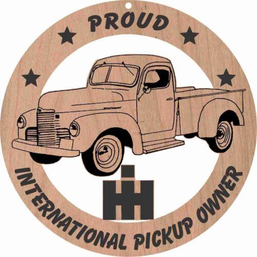 International Pickup circa 1948  Wood Ornament Engraved