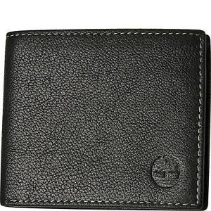 Timberland Men S Genuine Leather Bifold Passcase Wallet Ebay